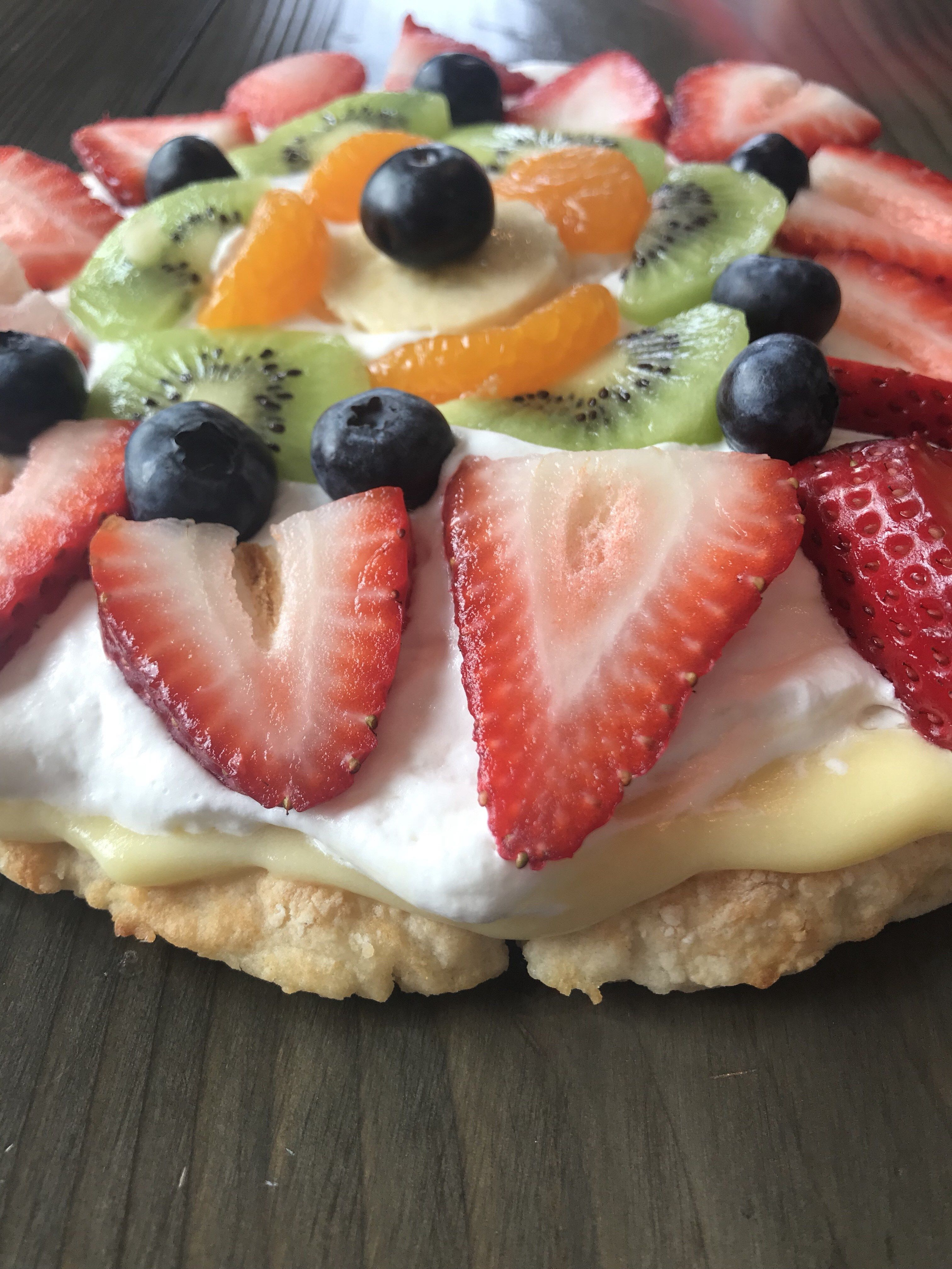 Two Ingredient Dough Fruit Tart, 1 Serving = 1 Freestyle Point