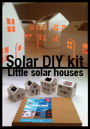Solar Diy Kit Containing 4 Little Solar Night Light Houses Great