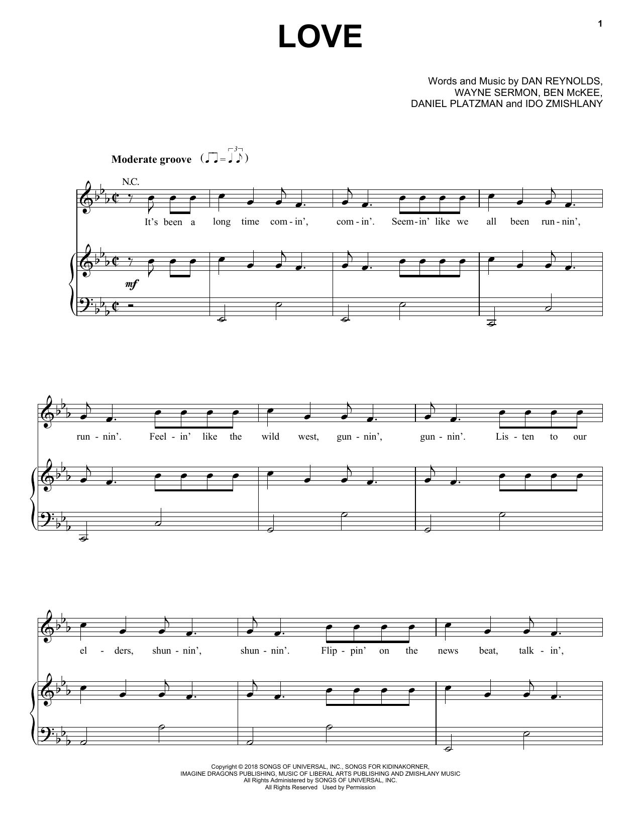 Imagine Dragons Love Sheet Music Notes Chords Score Download Printable Pdf Imagine Dragons Sheet Music Sheet Music Notes