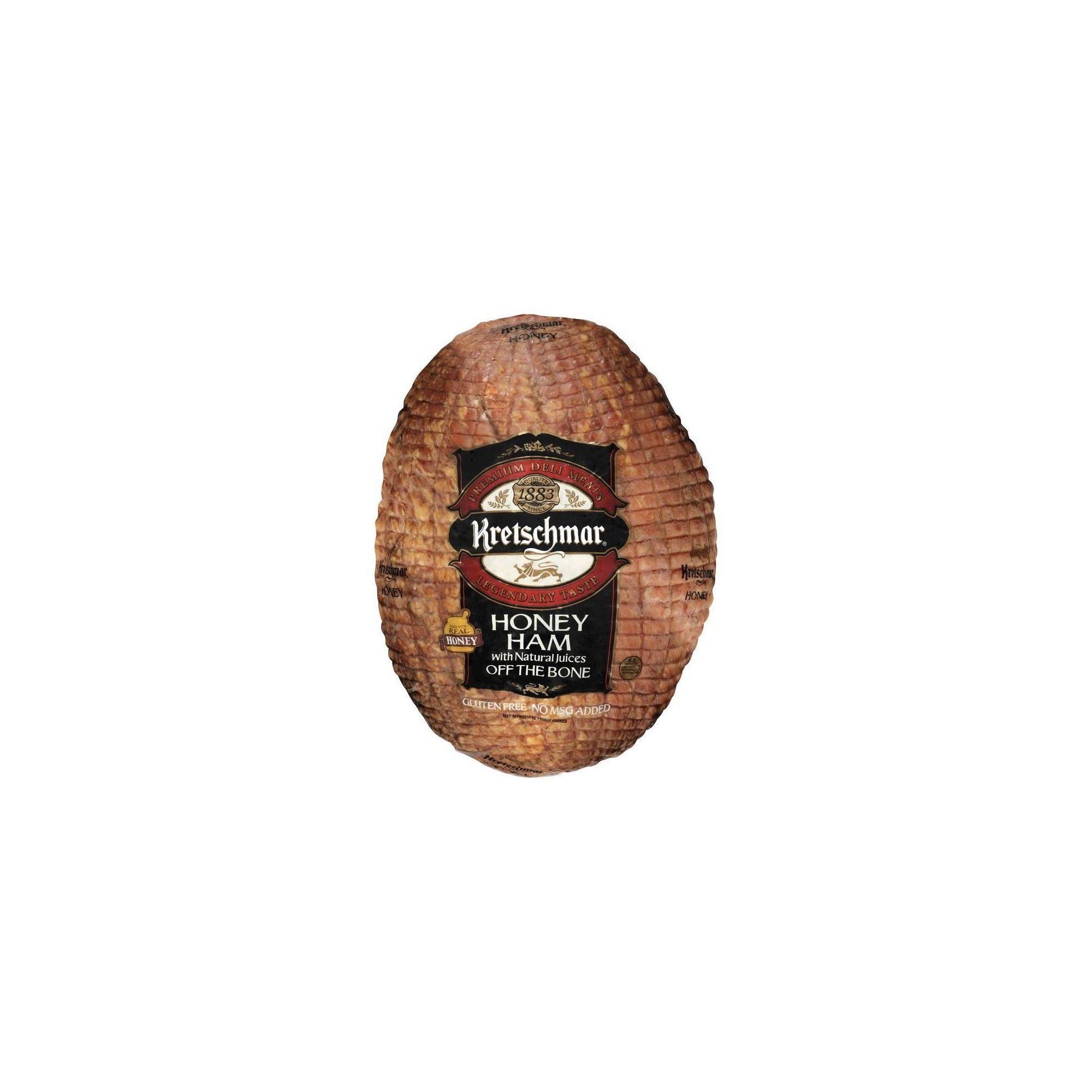 Kretschmar Honey Ham Off The Bone - Priced Per lb.  Honey ham