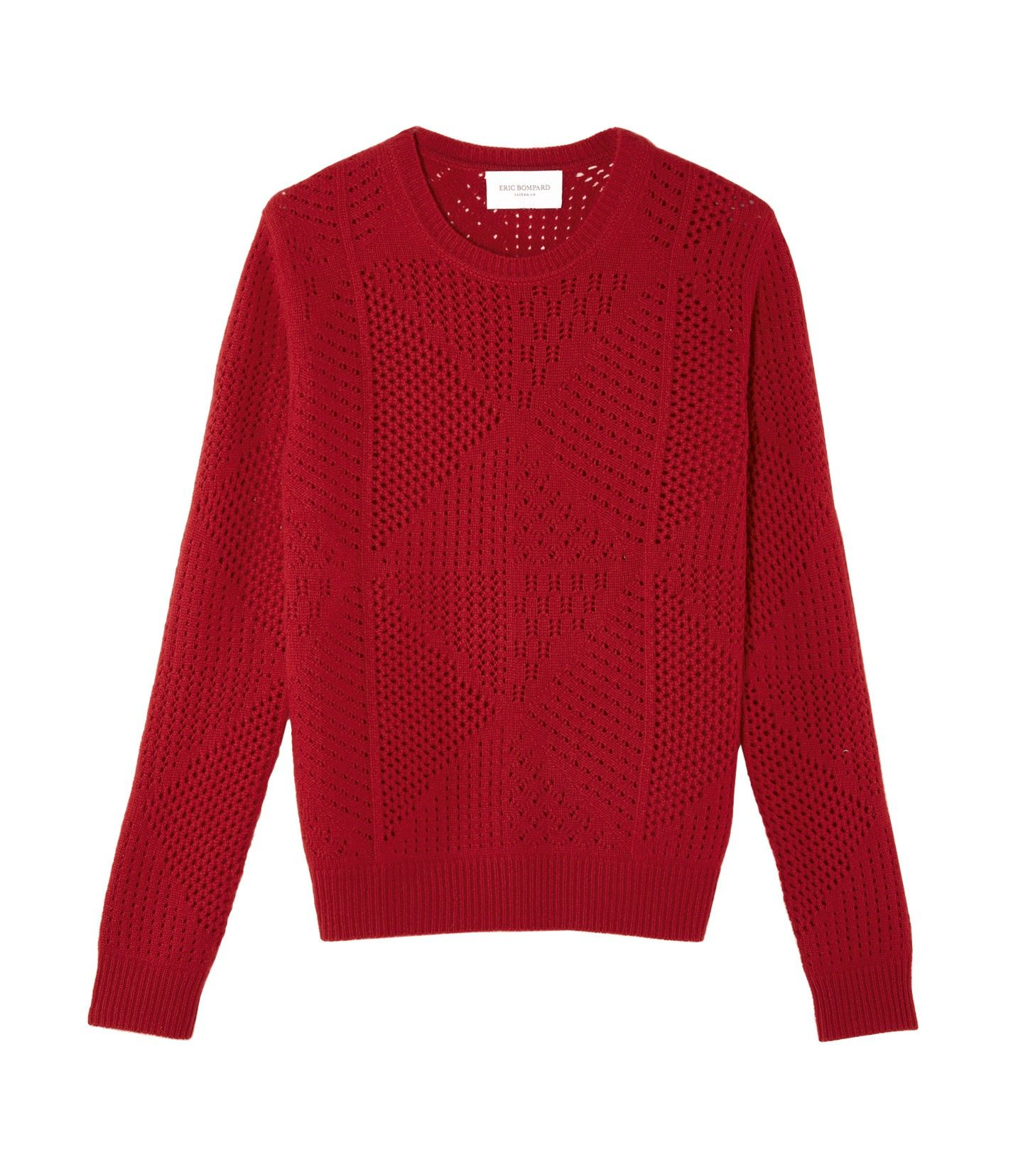 Open work patches crew neck pullover women eric bompard open work patches crew neck pullover women eric bompard bankloansurffo Images