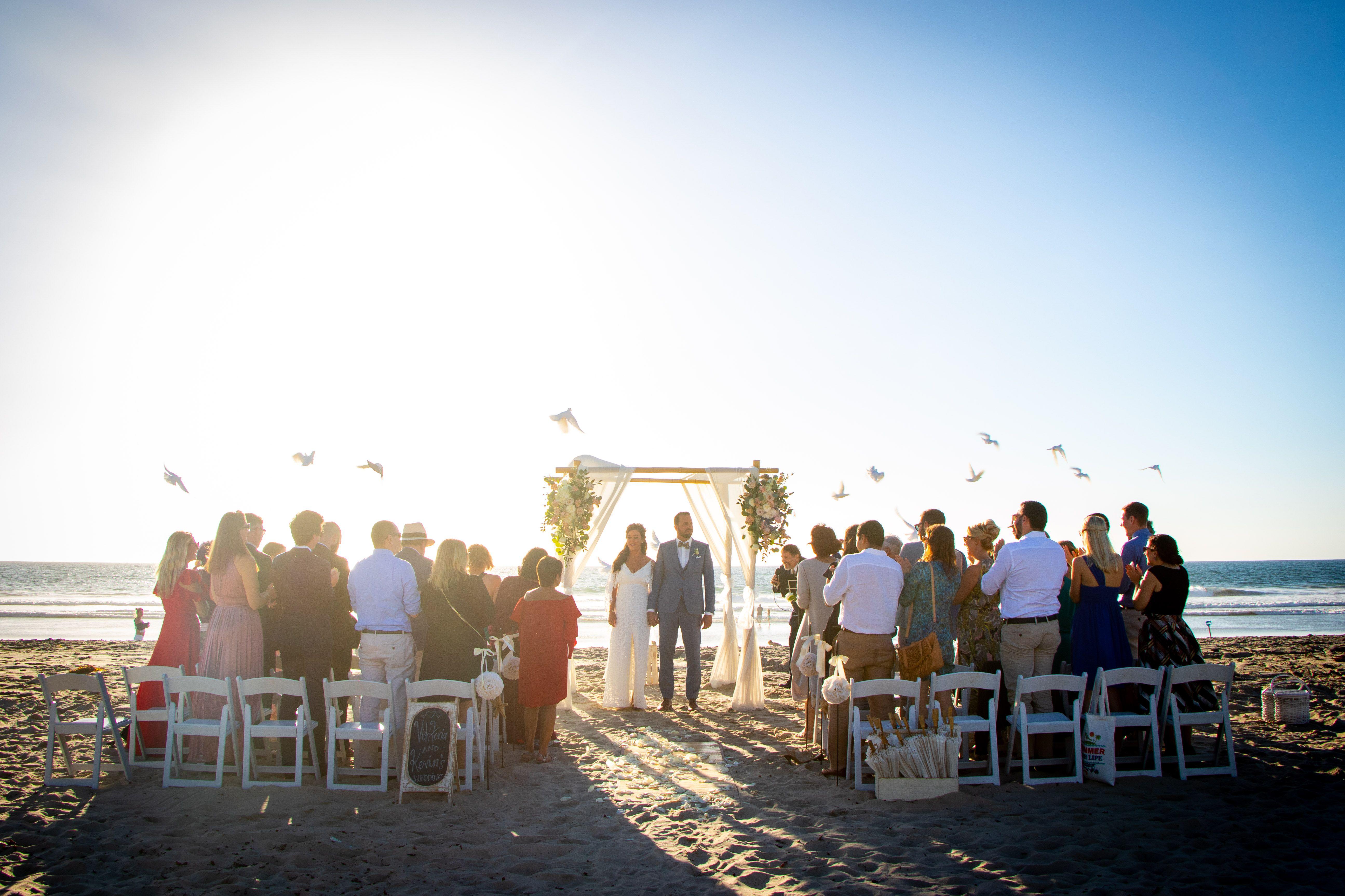 Pin By Dream Beach Wedding San Dieg On Canopies By Dream Beach Wedding San Diego Mission Beach Beach Wedding Planning Wedding Venues Beach