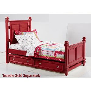 Red Twin Bed Frame Twin Poster Bed Youth Bedroom Bedrooms