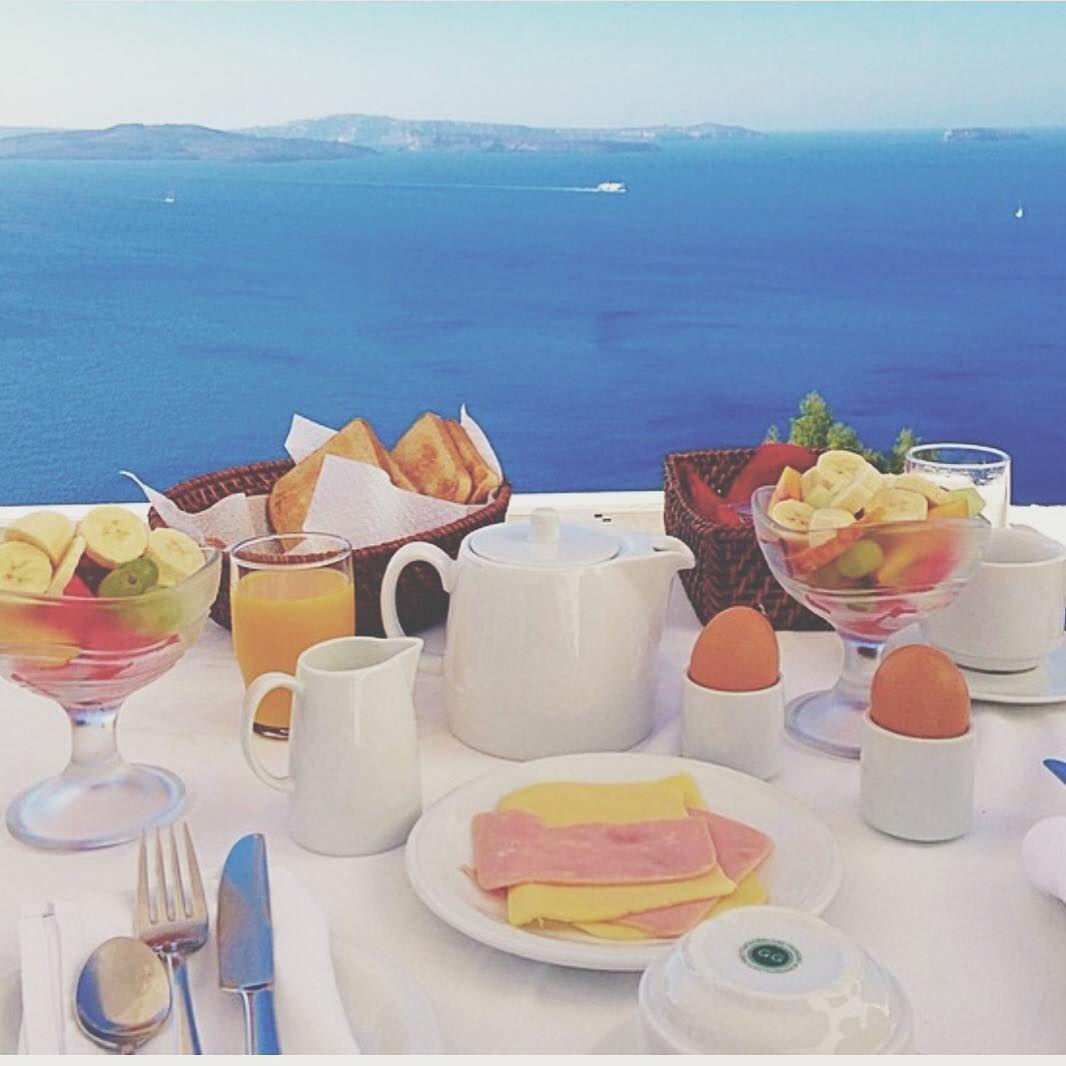 Take me back... #morning #breakfast #Santorini #oia