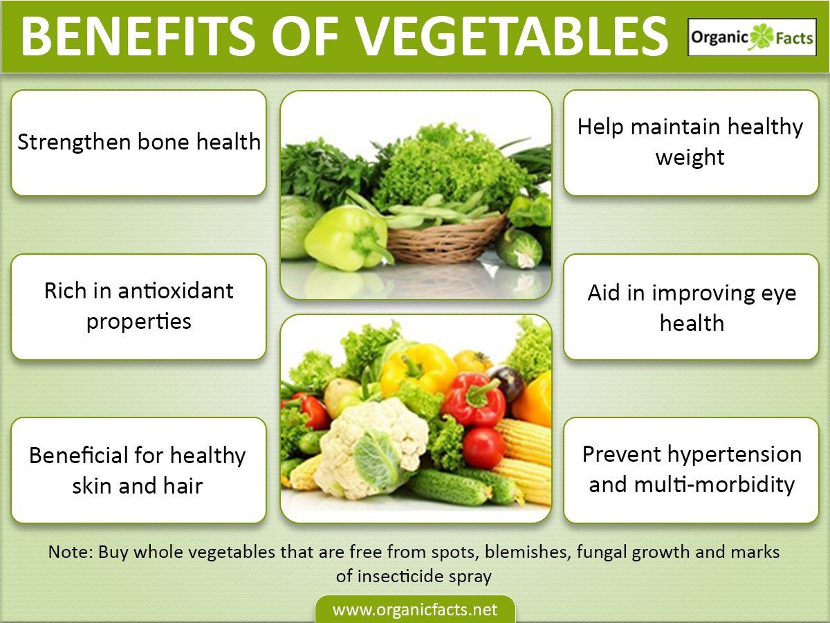 vegetables have uncountable health benefits; its rich
