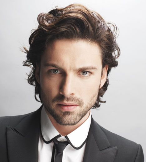 Mid Length Layered Mens Hair I Want This Minus The Long Back Side And Long Sides Clean Up The Beard Mens Hairstyles Medium Wavy Hair Men Short Wavy Hair