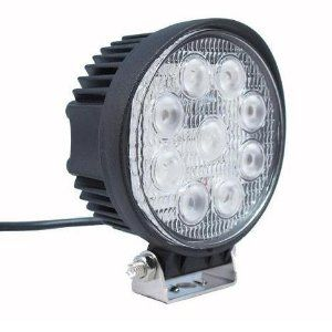 Amazon Com 6k Led Spot Light Off Road Round Atv Lighting 6000k White 27w 12volt 24volt Airboat Automotive Led Work Light Work Lights Led Driving Lights
