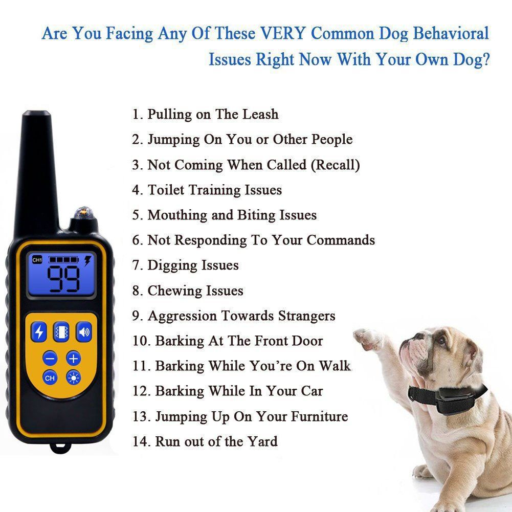 Viniking Dog Training Collar Ip67 Waterresistant And Rechargeable