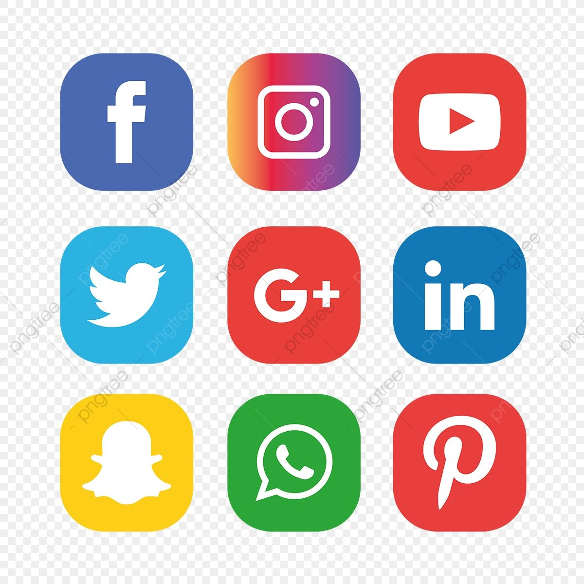 Social Media Icons Set Social Media Clipart Social Icons Media Icons Png And Vector With Transparent Background For Free Download Social Media Icons Media Icon Social Media Logos