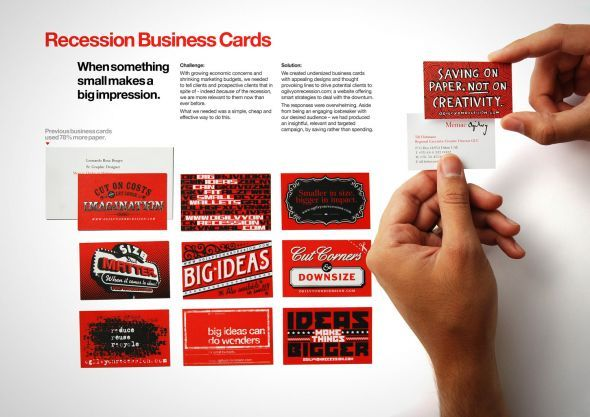 Ogilvy Dubai's recession business cards