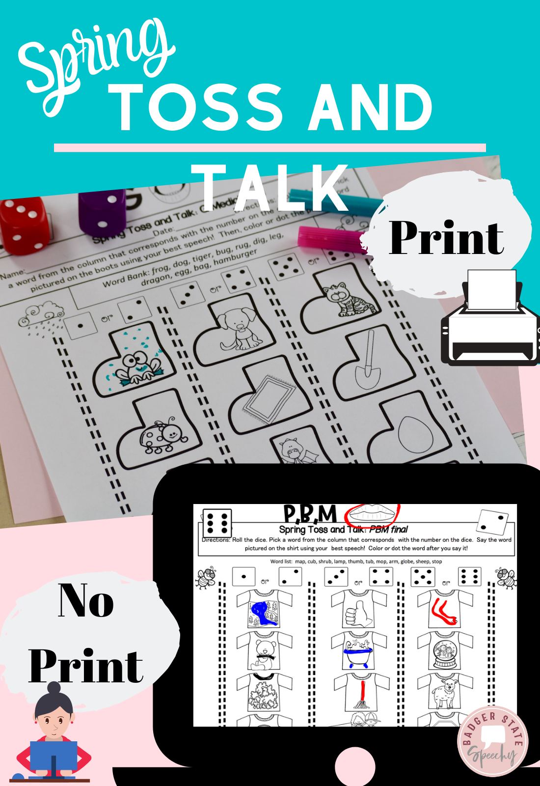 Distancelearning Dice Print Or No Print Articulation All