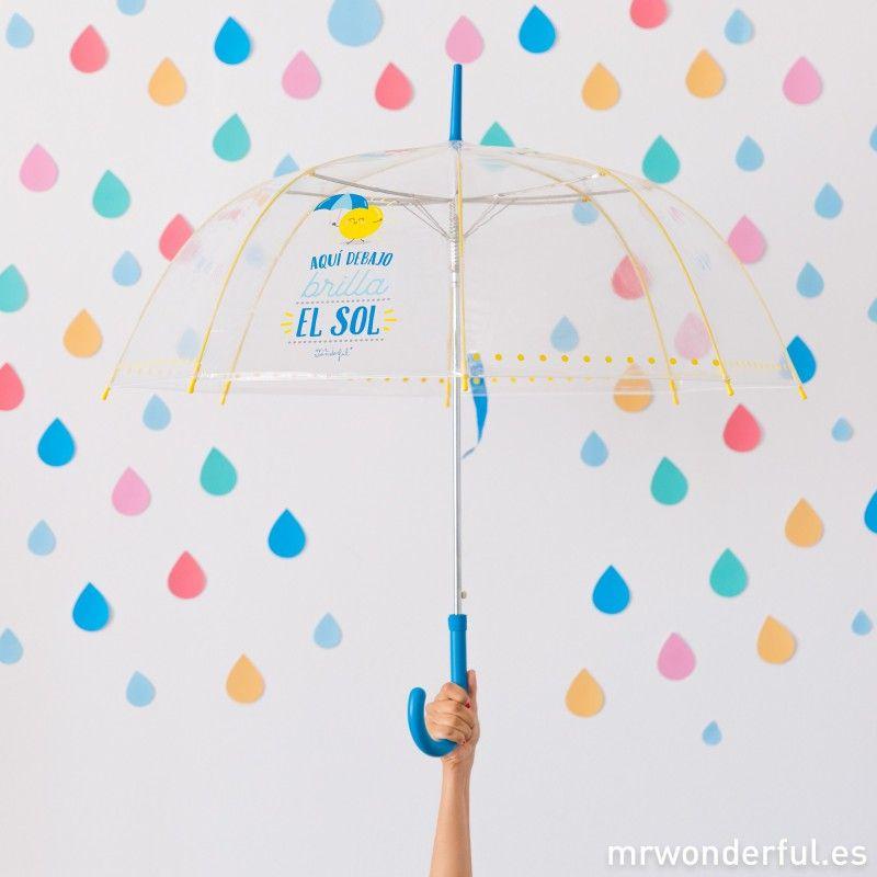 cupón de descuento estilo de moda famosa marca de diseñador Paraguas largo - Aquí debajo brilla el sol #umbrella ...