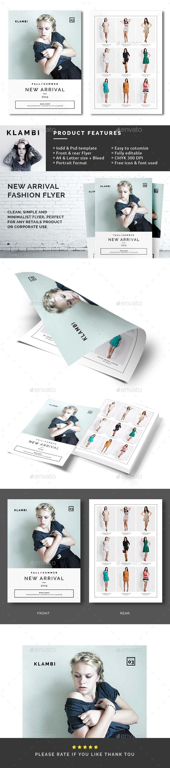 New Arrival Fashion Flyer  Flyer Template Business Flyers And