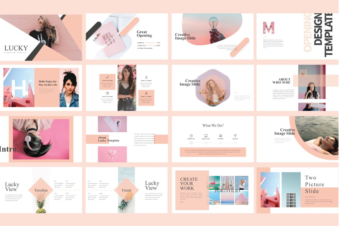 Lucky Free Presentation Template Free Presentations Templates
