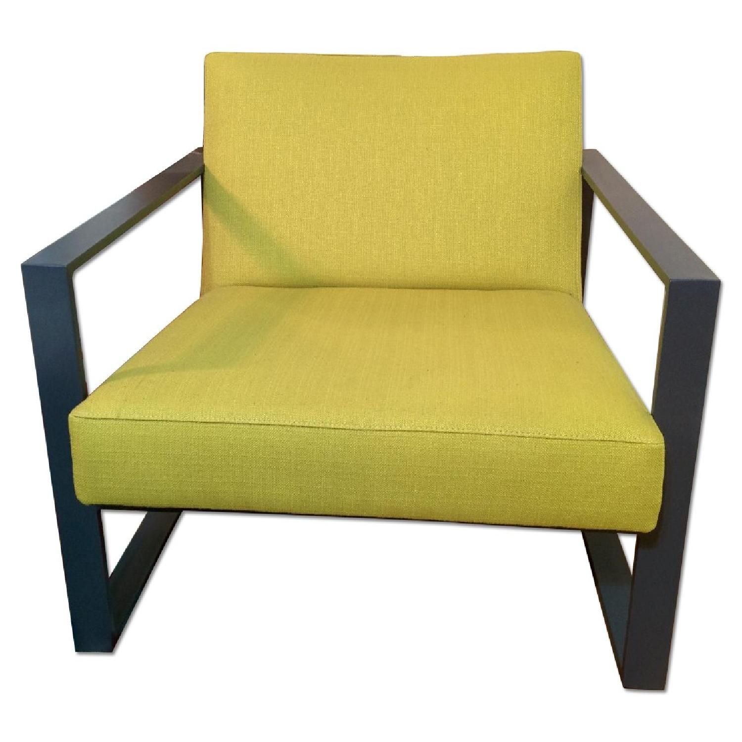 High Quality CB2 Specs Chair In Citron