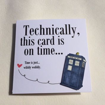 Birthday card belated birthday card special occasion card im birthday card belated birthday card special occasion card im sorry card doctor who card dr who card m4hsunfo
