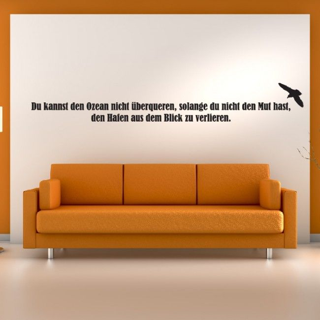 Du Kannst Wansticker Wandtattoo Ziat Kunst German Quote Wall
