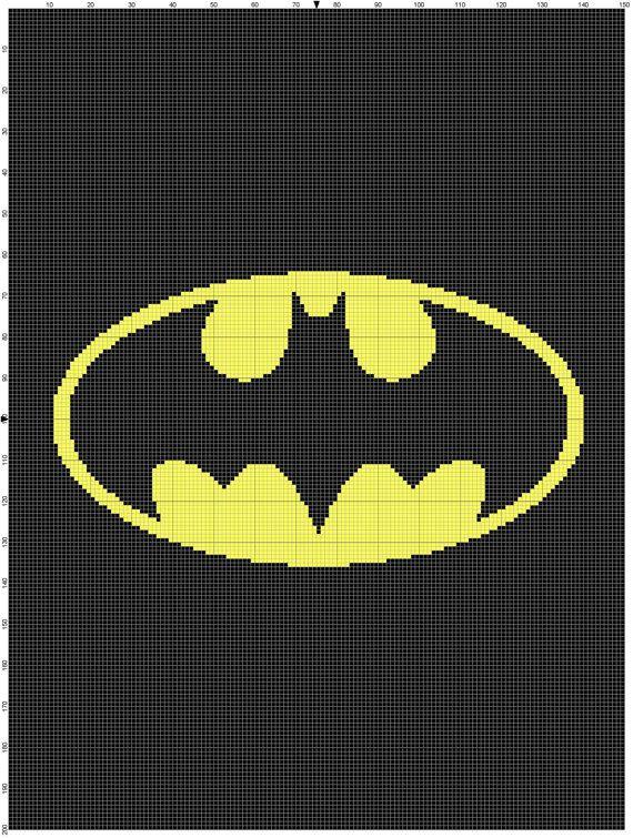 Batman gráfico gráfico patrón afgano Descargar por MadeEspecially ...