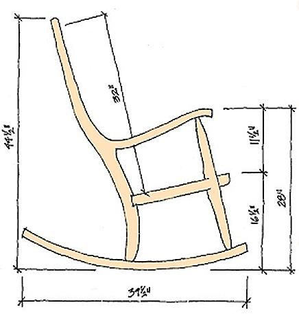 Dimensions Of Rocking Chairs Made By Gary Weeks And Company Rocking Chair Plans Wood Rocking Chair Rocking Chair