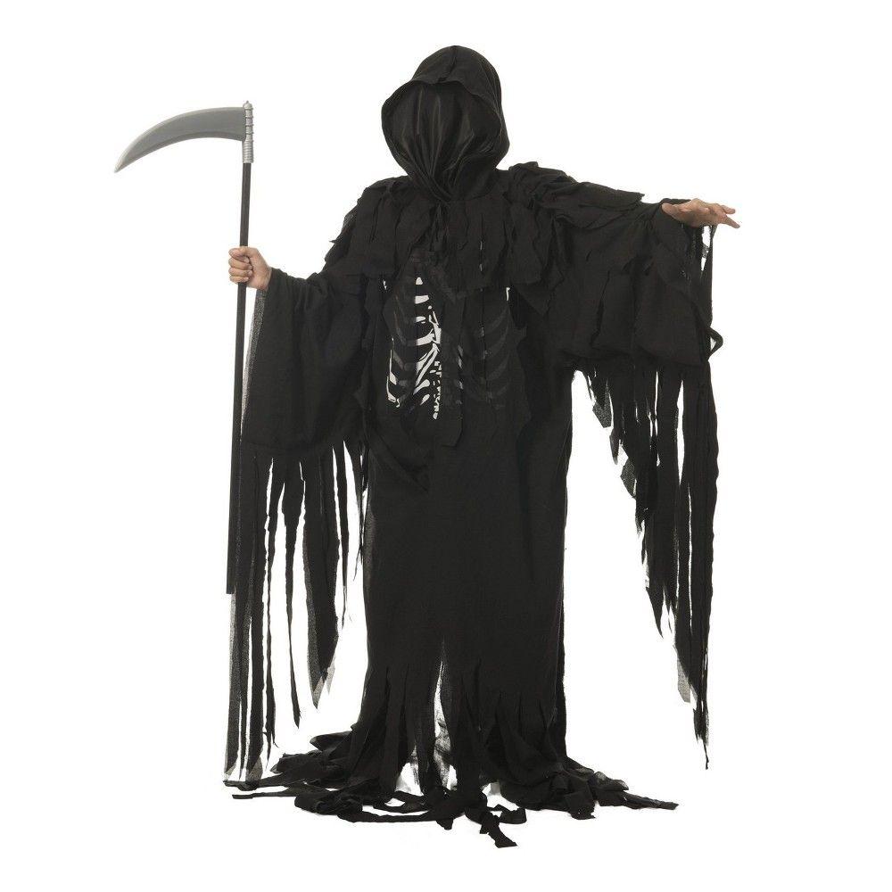 Halloween Kids\u0027 Tattered Reaper Halloween Costume XL, Men\u0027s
