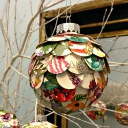 Make artichoke ornaments with punched circles.