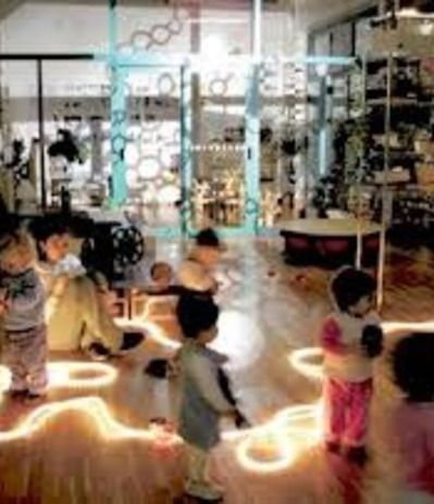reggio classroom - Google Search  I am, personally a huge fan of ANY project that uses rope lights