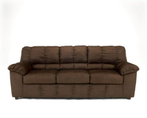 Chocolate micro fiber sofa at menards couch pinterest for Sofa table menards