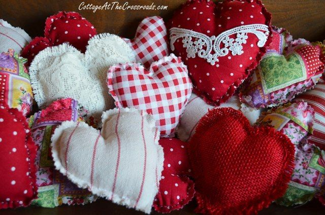Easy to Make Fabric Hearts - Cottage at the Crossroads