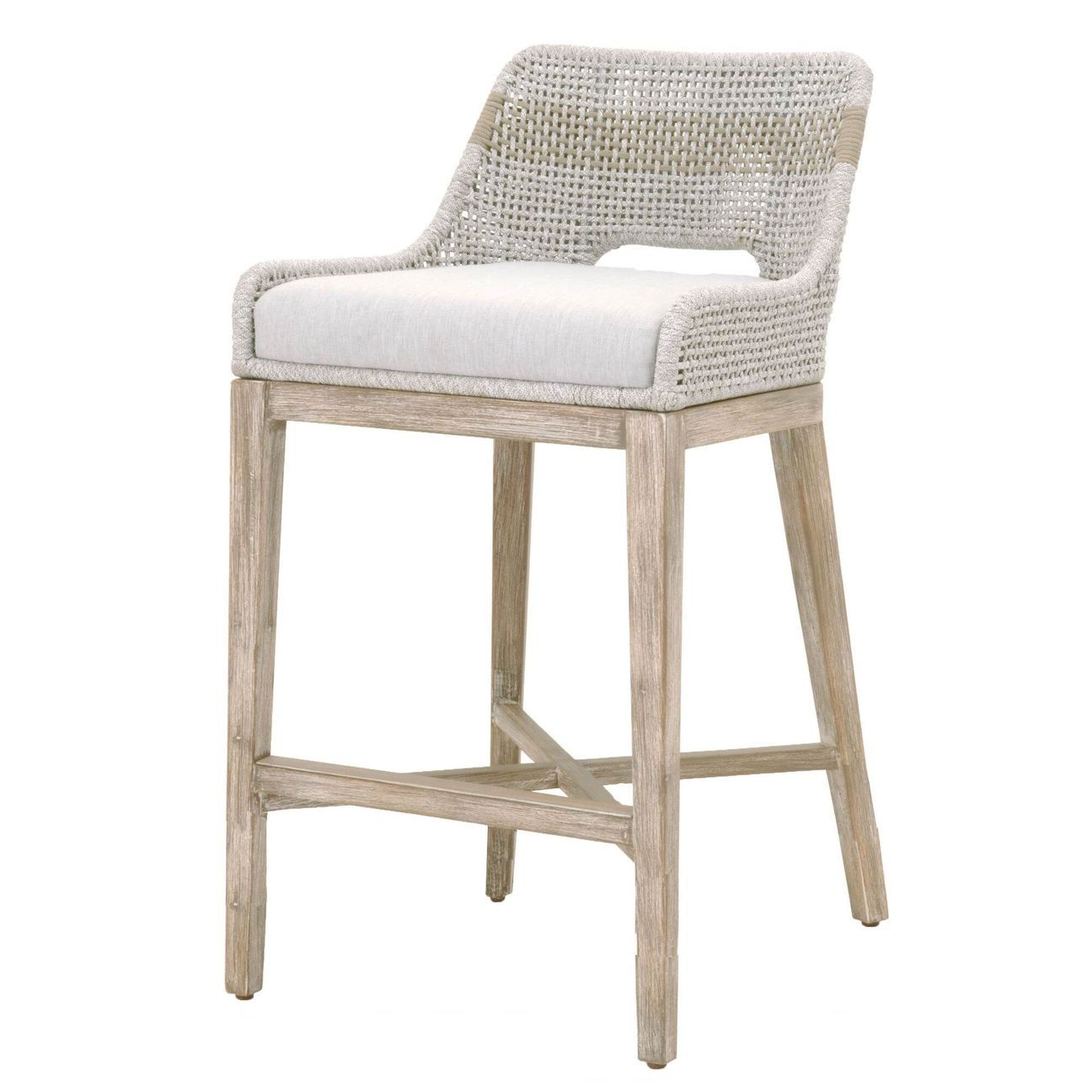 Tapestry Bar Or Counter Stool Taupe White Flat Rope In 2021 Counter Stools Counter Height Stools Furniture