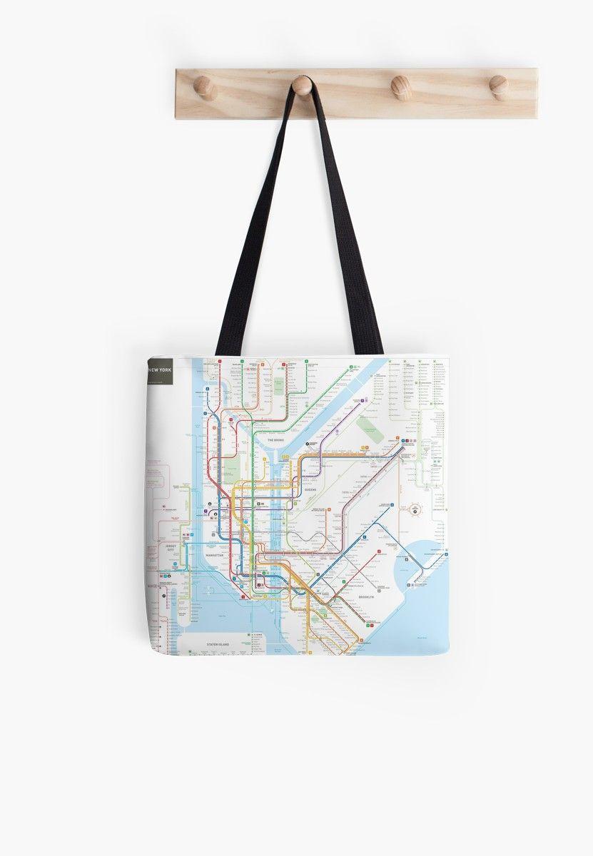 New York Subway Map Wallet.New York City Subway Map Tote Bag In 2019 Products Subway Map