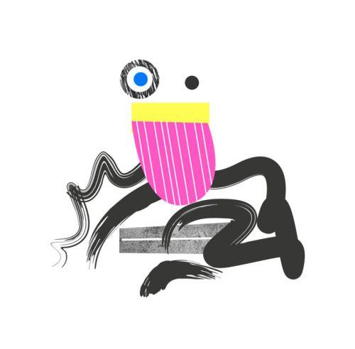 Poortraits #3: Monsieur Moustacha. Le Riquiqui. character / design / illustration / face / geometric / art.