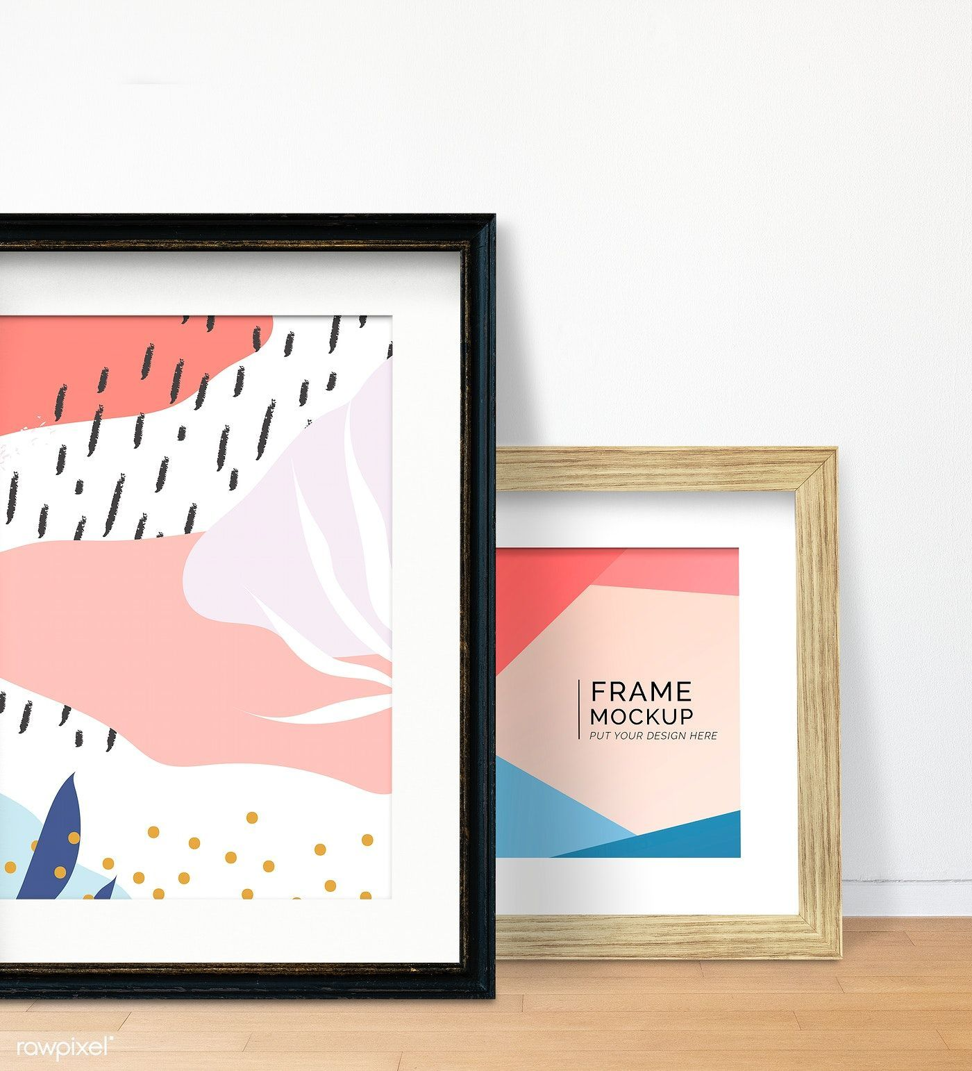 Download premium psd of Memphis design frame mockup against a wall 586047 #memphisdesign Memphis design frame mockup against a wall | premium image by rawpixel.com / Aom Woraluck / Card / fon / HwangMangjoo #memphisdesign