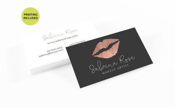 Lipsense business card 500 printed business cards rose gold lipsense business card 500 printed business cards rose gold reheart Image collections