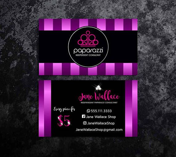 Paparazzi Business Cards Jewelry
