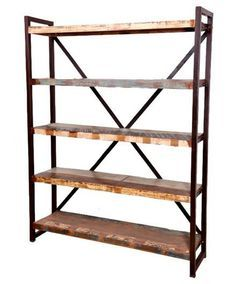 Reclaimed Wood And Iron Bookcase   Open Shelving   Shop Nectar   1