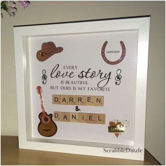 Country Music Wedding Frame Gift By Scrabbledazzle On Etsy