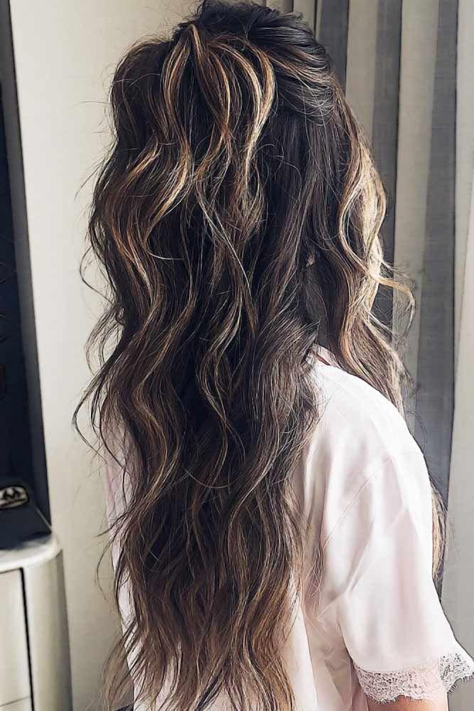 30 Perfect Half Up Half Down Ponytail Ideas Long Wavy Hair Half Ponytail Long Hair Styles