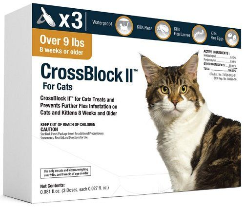Crossblock Ii Flea Preventative For Cats Over 9lb You Can Find Out More Details At The Link Of The Image It Is Amazon Affiliat Fleas Flea Prevention For Cats Cat Fleas