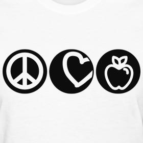 peace, love, teach | TBA's Teacher T-Shirts