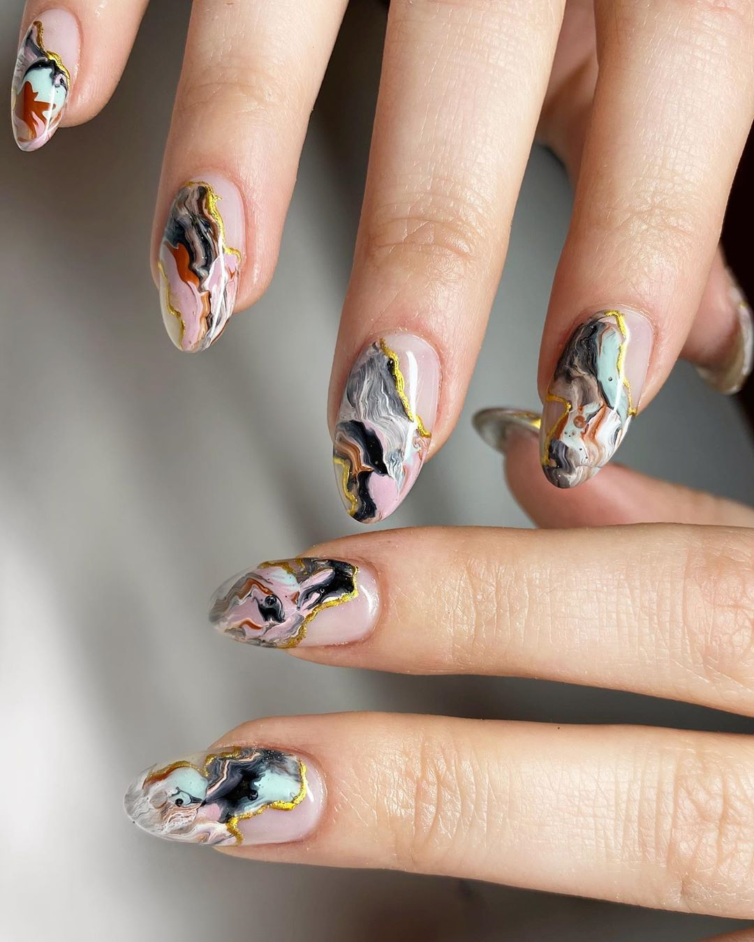 This impressive Feather Nail Art Peacock style is that the