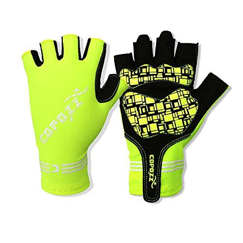 Lorsoul Cycling Gloves with Gel Pad Breathable Shock-absorbing Half Finger Road Racer Summer Bike Gloves Fingerless Bicycle Gloves