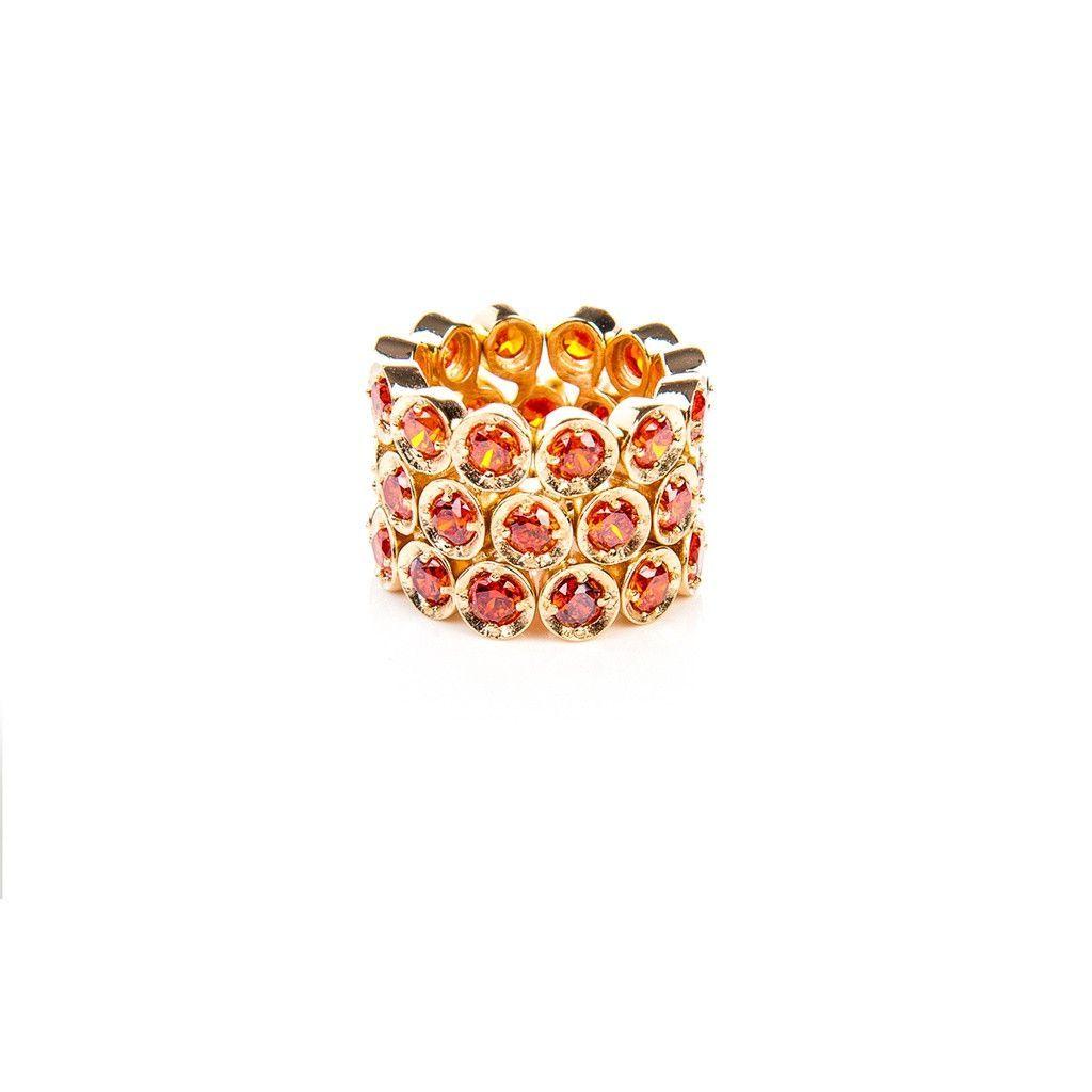 Triple Eternity Ring Orange