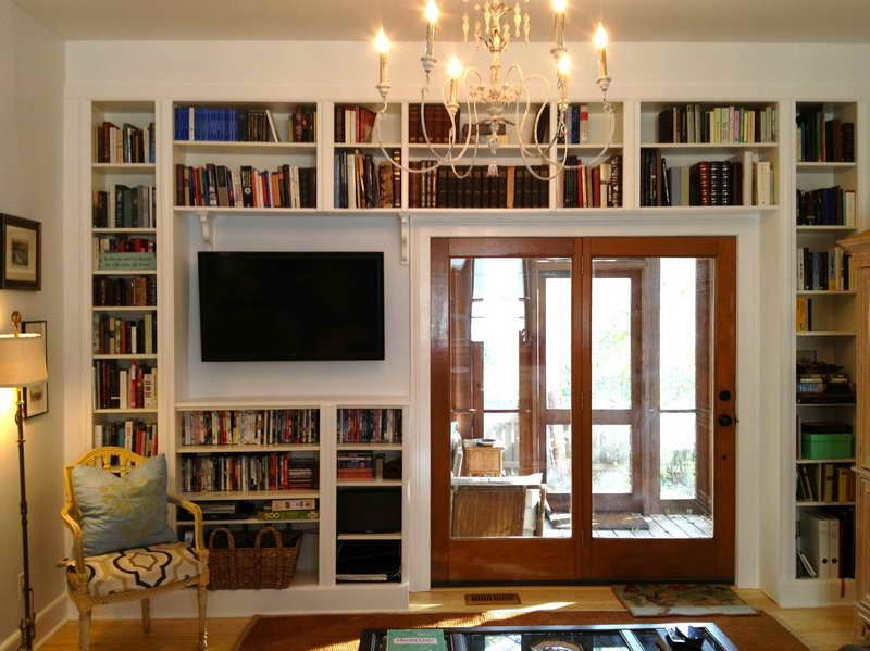 Country Style Built In Bookshelves How To Build With Simple