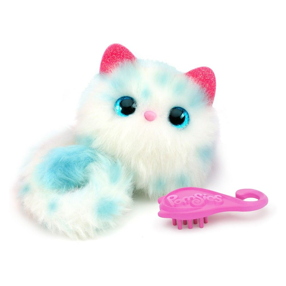 New Pomsies Snowball Cat Interactive Wearable Pom-pom Pets Top Holiday Gift Electronic & Interactive Other Interactive Toys