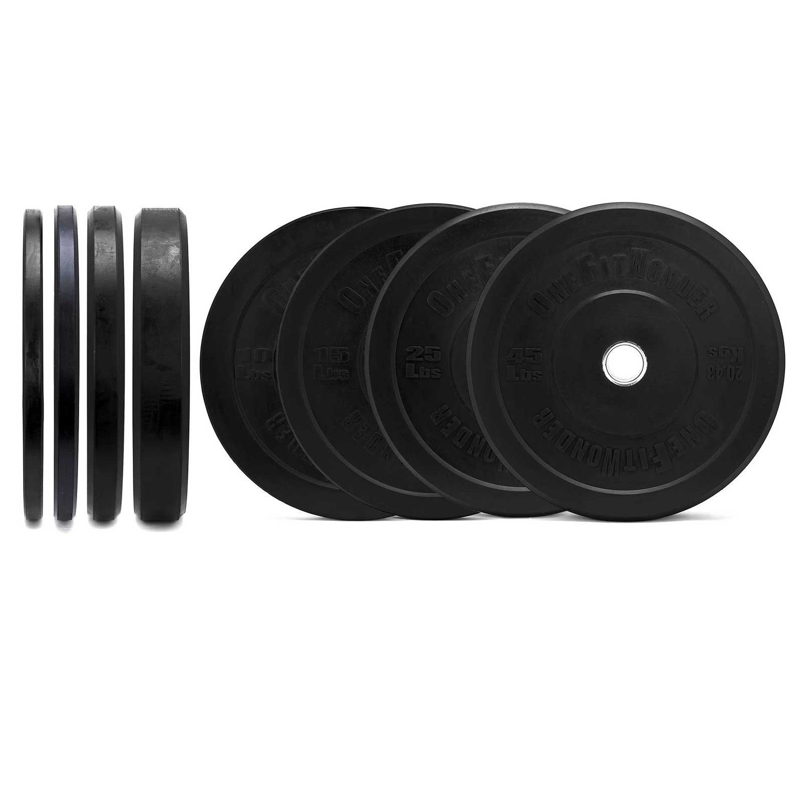 190 Lbs Black Bumper Rubber Plates Set (Pair of 10 / 15 / 25 / 45 Lbs) - Weight Plates for Strength Training Olympic Weight Lifting Powerlifting.  sc 1 st  Pinterest & 190 Lbs Black Bumper Rubber Plates Set (Pair of 10 / 15 / 25 / 45 ...