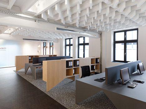 office lofts. custom workstations of oak veneered plywood and linoleum movet office loft by saf studio lofts