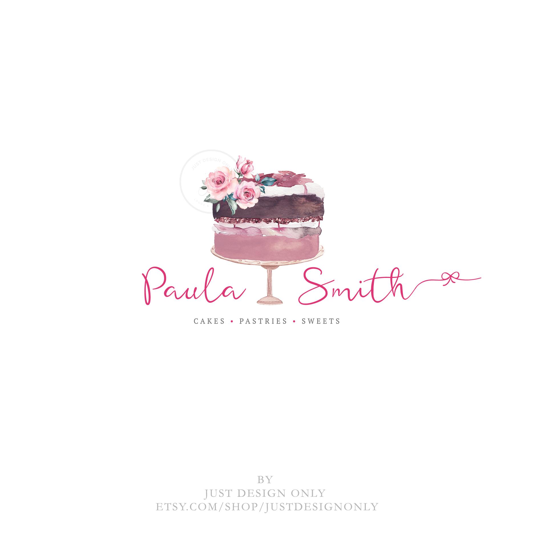 logo design ideas for cake business Cake Logo Bakery Logo Premade Logo Design Baking Logo  Etsy