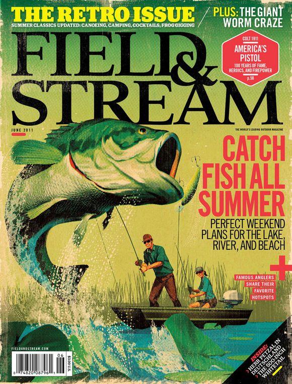 Field & Stream: June 2011  Design Director: Sean Johnson  Illustration: Tavis Coburn  #SPDcoveroftheday
