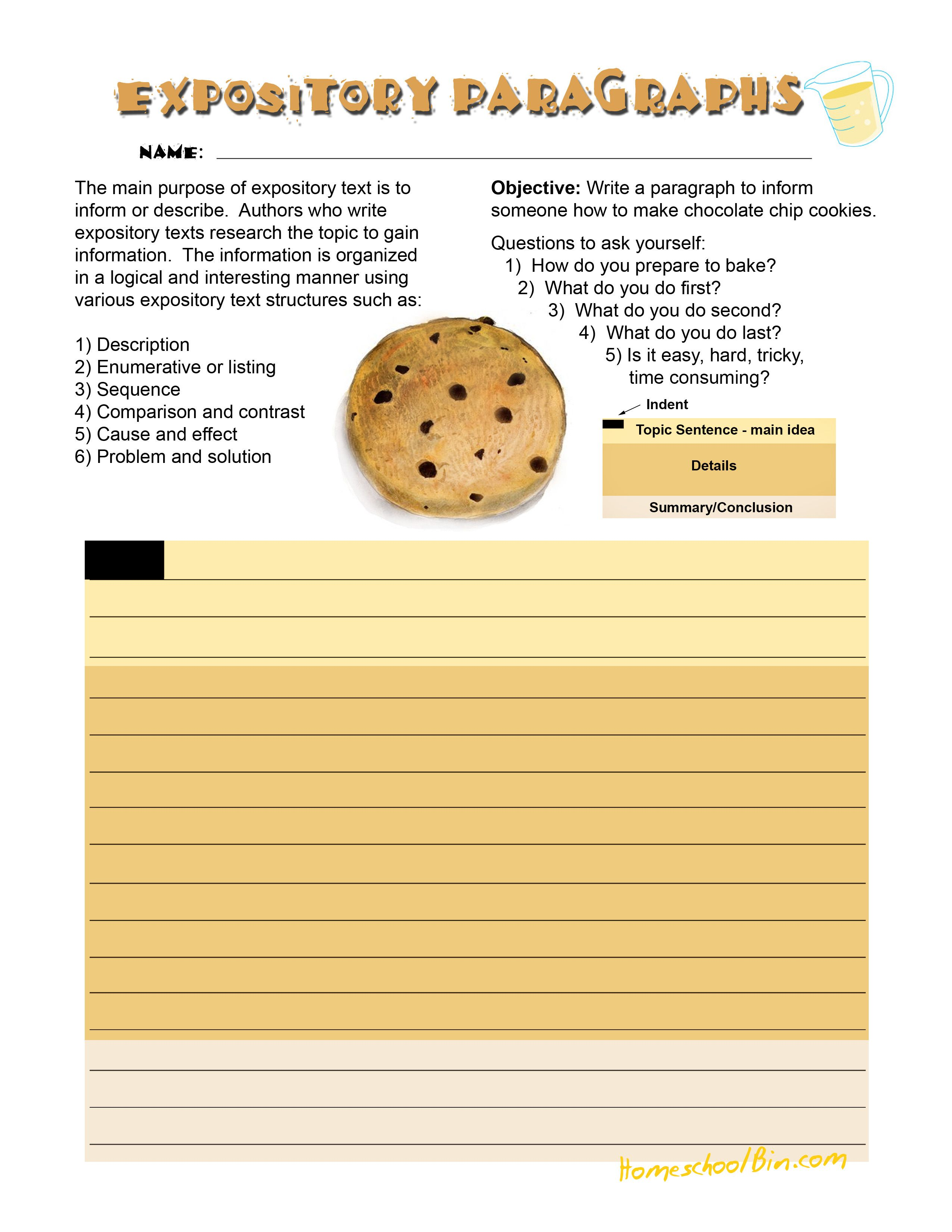small resolution of Expository Cookie   Expository writing