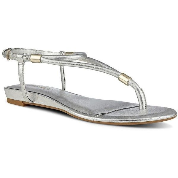 ac014fcaaa7039 Nine West Rivers Slingback Thong Sandals ( 52) ❤ liked on Polyvore  featuring shoes